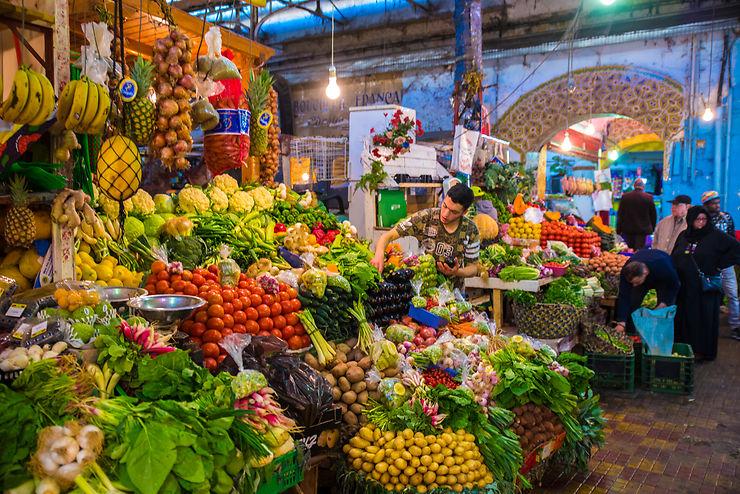 Marchand de fruits à Tanger
