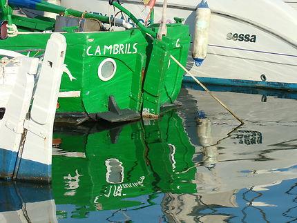 Barques de pèche en Espagne à Cambrils