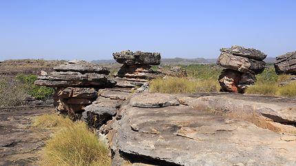 Pitons rocheux à Kakadu