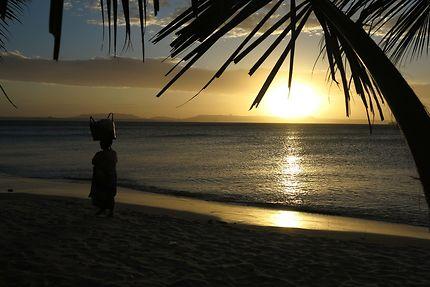 Coucher de soleil à Ramena