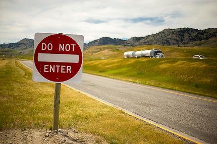 Sur la route, au Wyoming