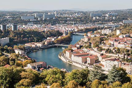 Vue sur la Saône et le 9ème arrondissement de Lyon