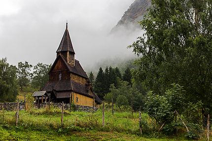 Eglise médiévale d'Ornes en Norvège