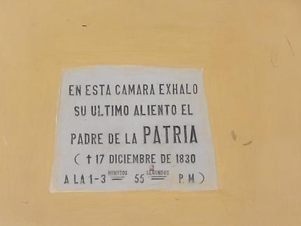 Heure précise du décès de Simon Bolivar