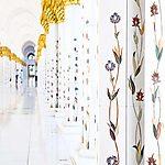 Mosquée Sheikh Zayed - Colonnes en fleurs