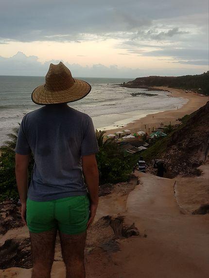 Contemplation de la plage de l'amour Praia do amor