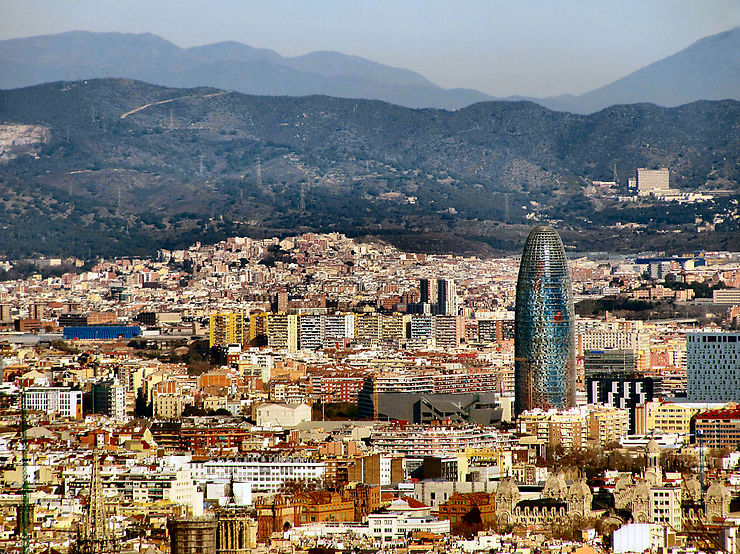 Barcelone depuis Montjuic, Espagne