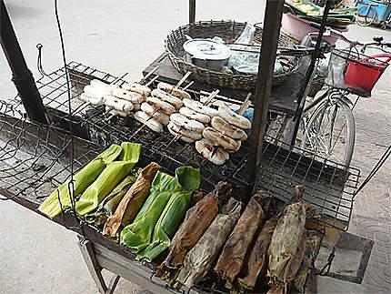 Repas locaux au Cambodge