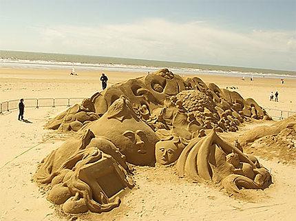 Sculpture de plage