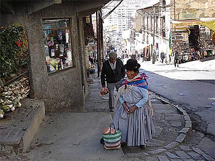 Dans les rues de La Paz