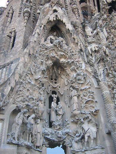 Une des représentions de la façade de la Nativité
