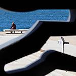 Marseille - Vue depuis le J4... face à la mer