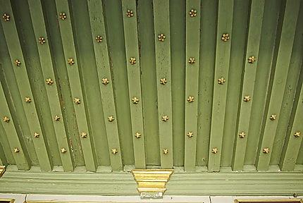 Le plafond de la galerie des Illustres