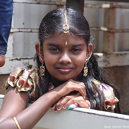 Enfants Sri Lanka hindouistes