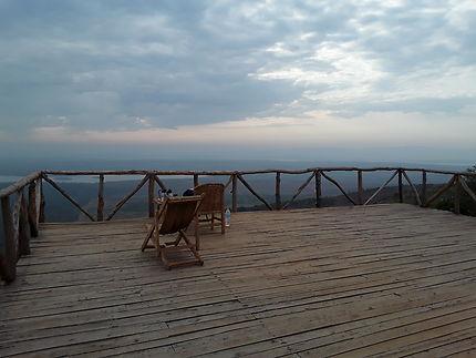 Camp site au dessus de l'Akagera Park