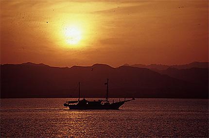 Coucher de soleil en Mer Rouge