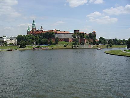 Cracovie : château de Wawel et la Vistule