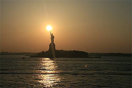 Coucher de soleil sur la liberté