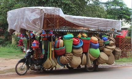 En route pour le marché, Siem Reap