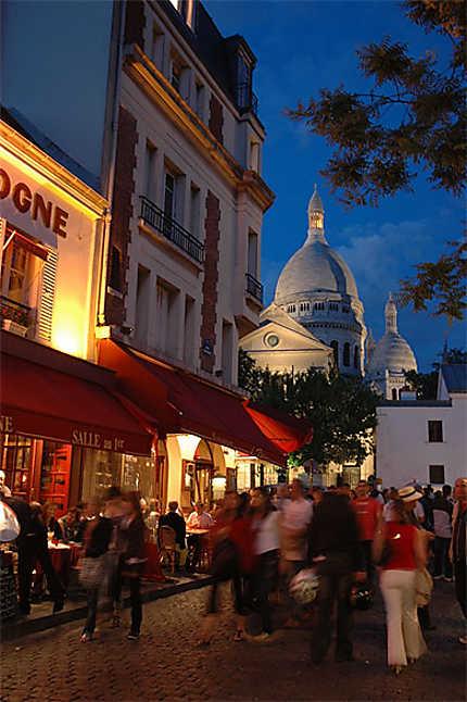 Montmartre depuis la Place du Tertre