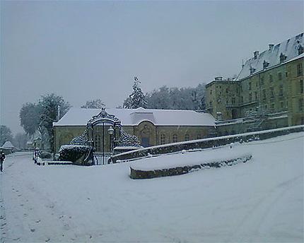 Château enneigé