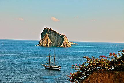 Panorama vu de l'île de Panarea
