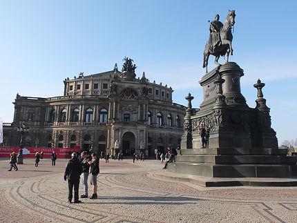 Statue à Dresde, Allemagne