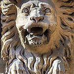 Marseille - Un lion, gardien d'immeuble