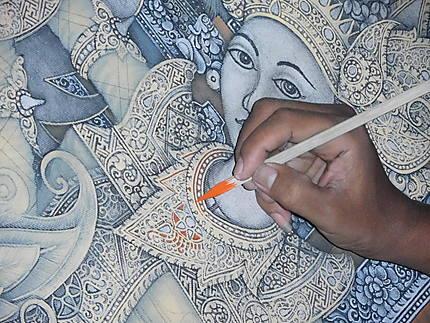 Travail du batik