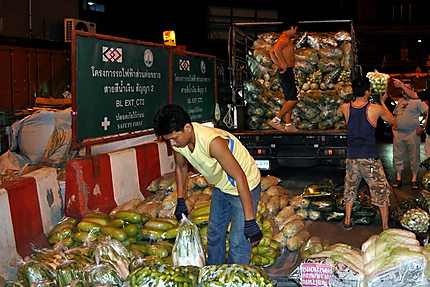 Au marché nocturne