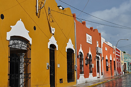 Rue très colorée de Merida