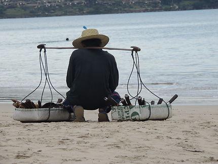Porteur sur la plage