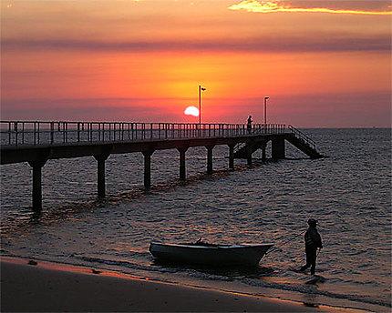 Pont à l'ile de Inhaca, construit par les italiens après les innondations au Mozambique