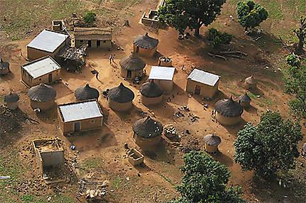 Vu du ciel, village de Niankrodugu