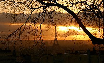 Coucher de soleil sur paris coucher de soleil tour eiffel 7 me arrondissement paris - Coucher de soleil sur paris ...