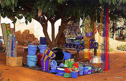 Boutique par terre à Banfora