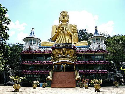 Entrée du temple de Dambulla