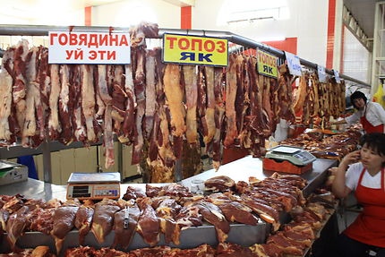 Sur le marché de Bichkek