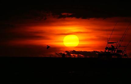 Coucher de soleil sur Playa Potrero