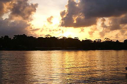 Coucher de soleil à Tortuguero