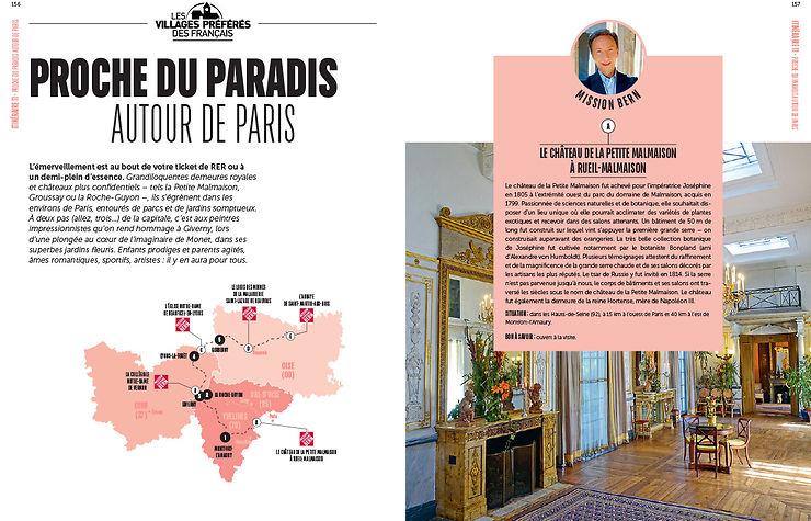 Les itinéraires autour de Paris