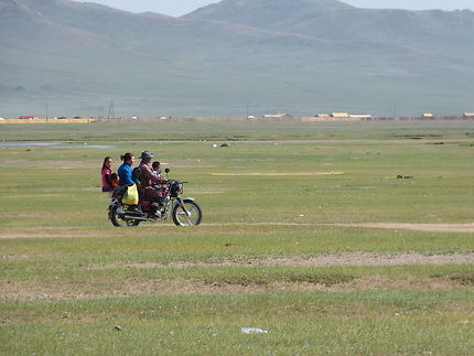 La moto : transport familial