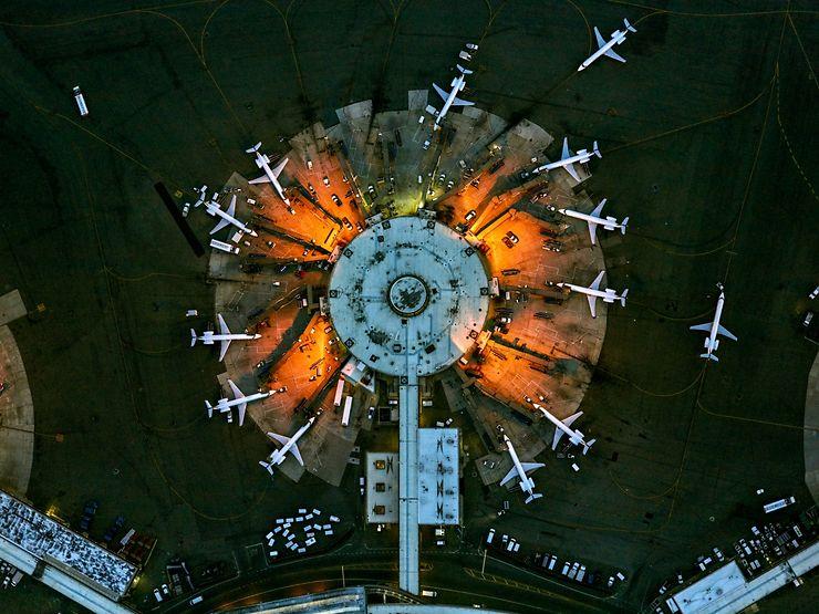 Aéroport de Newark 11, terminal A, New Jersey, USA