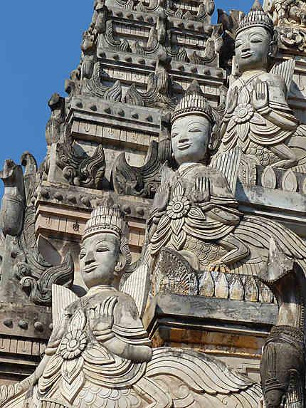 Pagode Tharhaung, détail