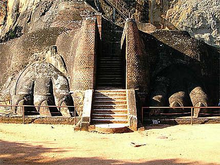 Les pattes de lion de Sigiriya