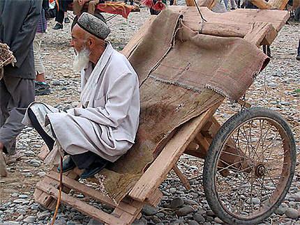 Sur le marché de Kashgar