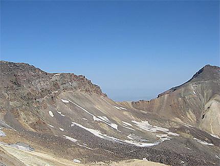 Au sommet du mont Aragats
