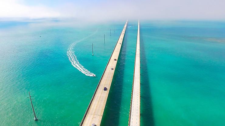 Rouler sur l'eau dans les Keys de Floride
