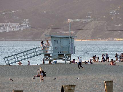 Poste de surveillance sur Monica Beach