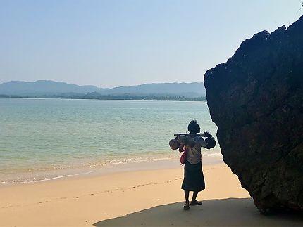 Sur les plages désertes de Birmanie